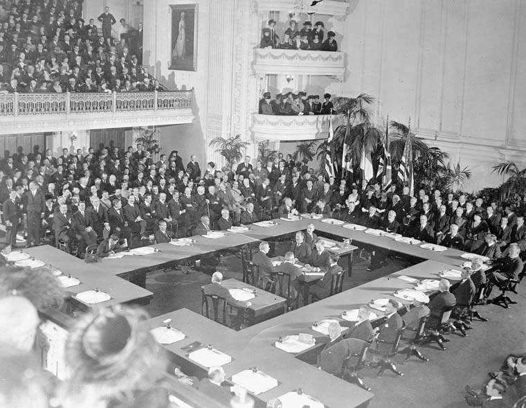 The Paris Peace Conference - Deliberation over the Treaty of Versailles (Borden was present)